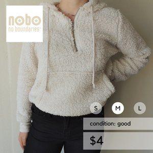 Faux Fur Sherpa Fleece Pullover Sweatshirt